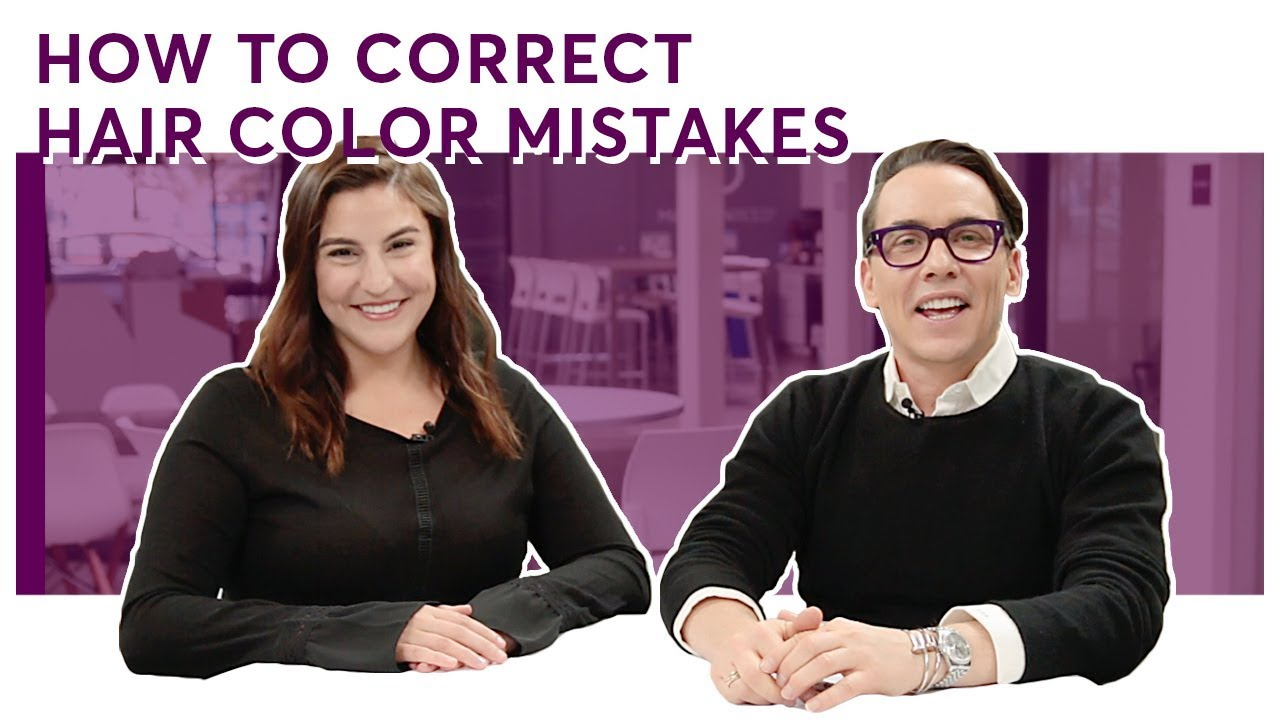 How To Correct Common Hair Color Mistakes Youtube