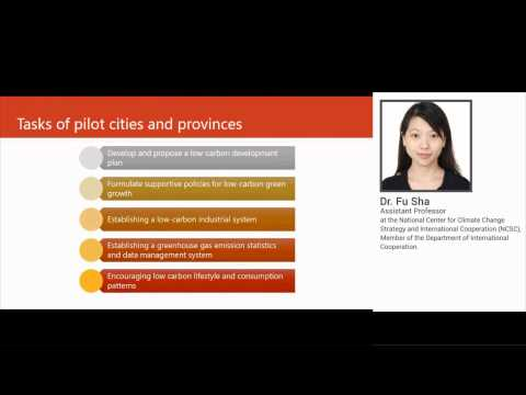 Webinar - Low Carbon City Pilots: Experiences from China