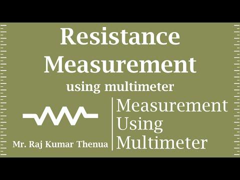 Resistance Measurement using Multimeter in Hindi
