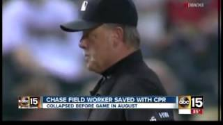 Chase Field worker saved with CPR