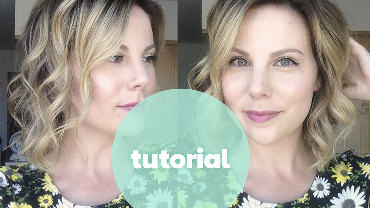 Tutorial How To Curl Short Hair Beachy Waves With Nume