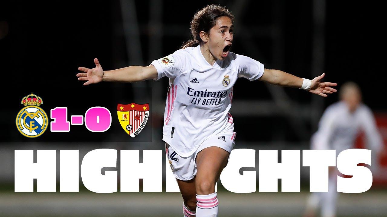 📺 HIGHLIGHTS | Real Madrid 1-0 Santa Teresa | Primera Iberdrola
