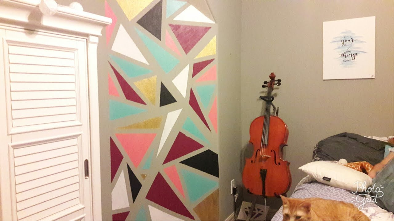 Diy Geometric Wall Mural Art Painting