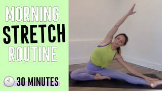 30 Minute Get Stretchy Morning Routine With Action Jacquelyn