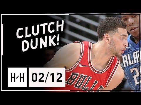 Zach LaVine Full Highlights Bulls vs Magic (2018.02.12) - 18 Pts, 7 Reb, CLUTCH DUNK!
