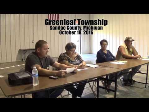 Greenleaf Township October 18, 2016