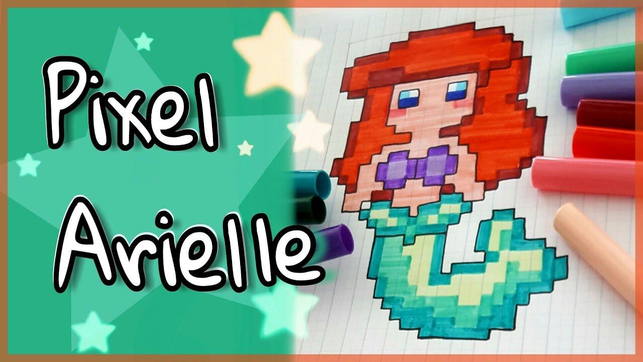 how to draw pixel arielle  disney princess malen  foxy