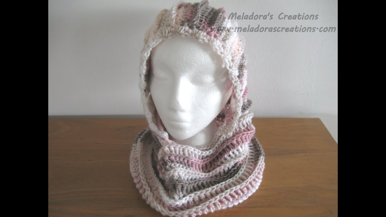 Riptide Hooded Cowl - Crochet Tutorial - YouTube