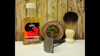 Phoenix Shaving Starling SE, Victory Shaving Company Hot Stuff and Crown King Sun Down aftershave