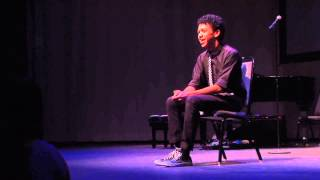 justice smith spoken theater monologue from the innocents crusade youngarts la 2013