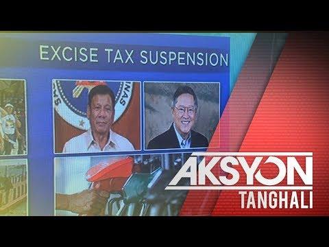 Dagdag na excise tax sa susunod na taon, planong suspindihin ng Pangulo