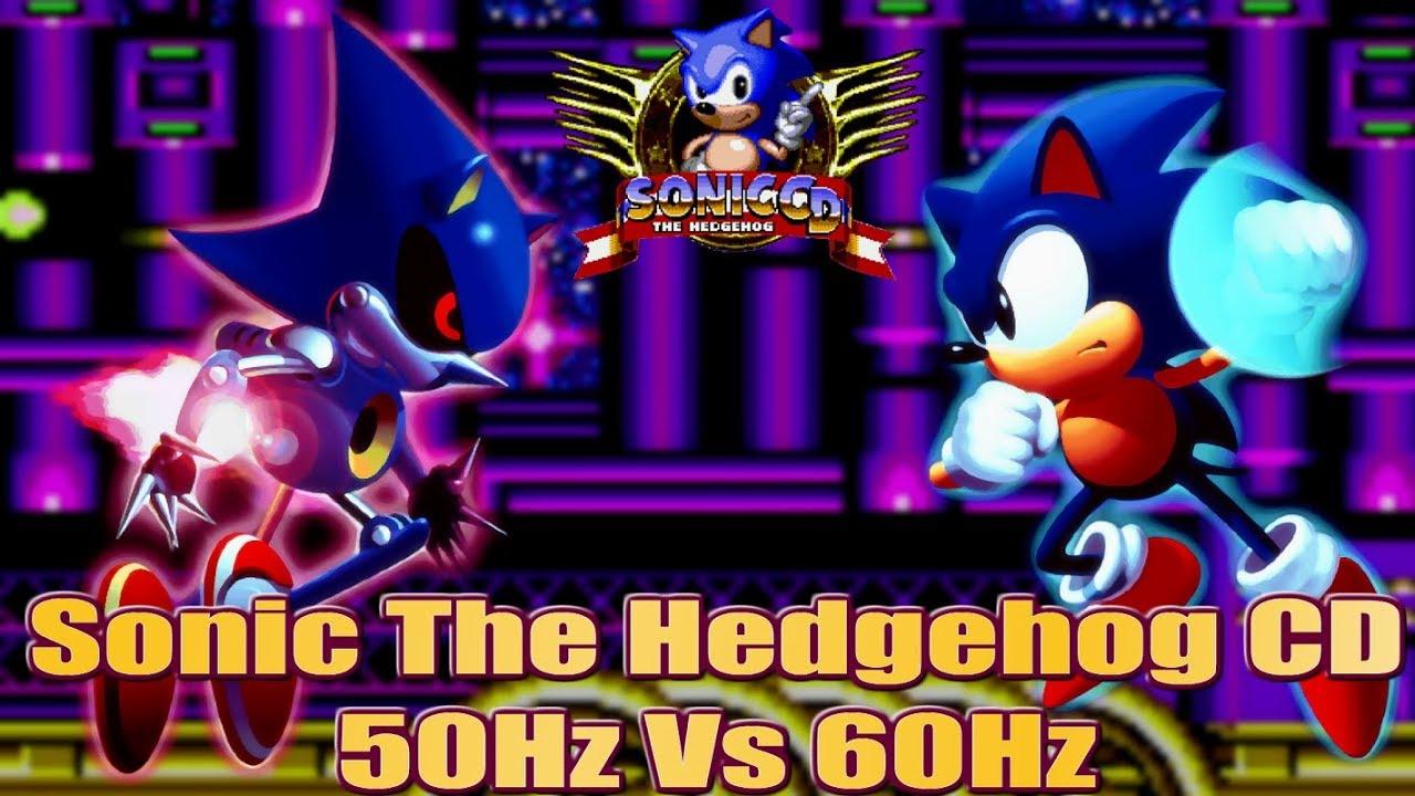 Sonic CD - 50Hz vs 60Hz (PAL vs NTSC) - A direct comparison - YouTube