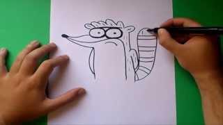 Como dibujar a Rigby paso a paso - Un show mas | How to draw Rigby - Regular show