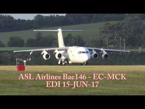 Check ATC - Funny Stuff !! - ASL Airlines BAE146 departing EDI - [4K/UHD]
