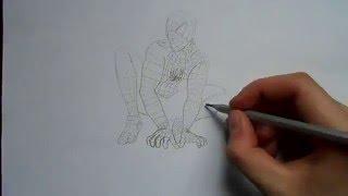 Видео: как нарисовать человека паука?(обучающее видео по рисованию человека паука простым карандашом поэтапно для начинающих., 2016-01-04T10:38:21.000Z)