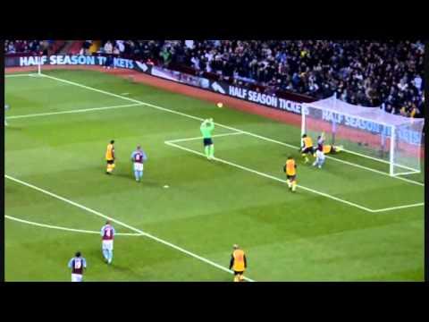 Bacary Sagna Incredible Save - Arsenal - Aston Villa