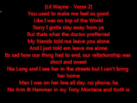 Lil Wayne   Novacane Lyrics On Screen Ft  Kevin Rudolf + Download