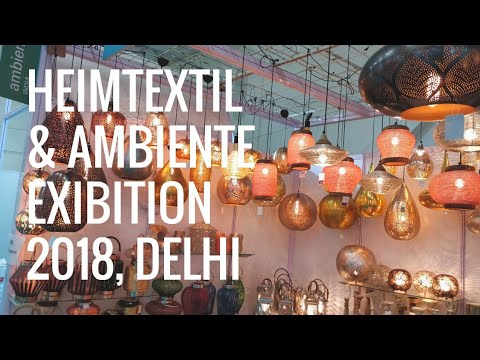Interior Decoration, Furnishing, Artifacts-Tour of Heimtextil and Ambiente Exhibition 2018 Delhi