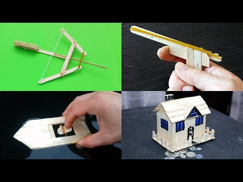 4 AWESOME TOYS YOU CAN MAKE USING POPSICLE STICKS! - DIY FOR KIDS! Compilation 2018