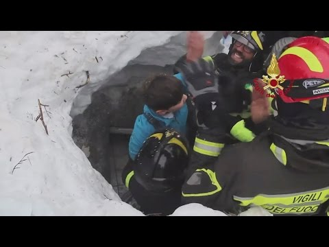 Miraculous survival: 8 pulled from the rubble of Hotel Rigopiano, Italy