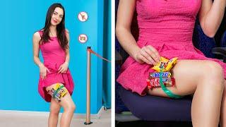 Как пронести сладости в кинотеатр / Смешные трюки с едой