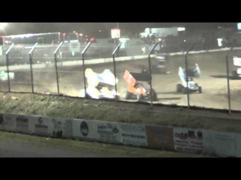 8.16.14 Attica Raceway Park 305 Sprints A-Main