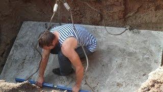 Монтаж пластикового кессона, очистного сооружения и водопровода при высоком УГВ от Септик профи(Адрес сайта : http://septikprofi.ru/Очистные_сооружения Видео от