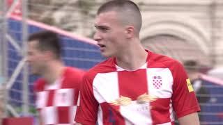Болельщики Англии и Хорватии в Парке футбола ЧМ-2018