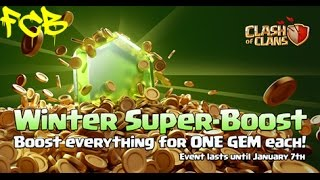 Clash of Clans | Winter super boost! Boost everything for one GEM each until 7th jan!!!