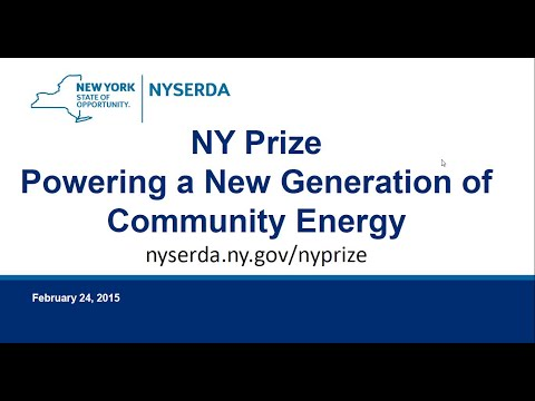 NY Prize Community Microgrid Competition & Critical Facility Resiliency Study (Webinar)