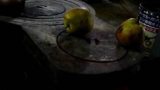 おやつに、洋梨を焼いて、食べようとしたら・・・