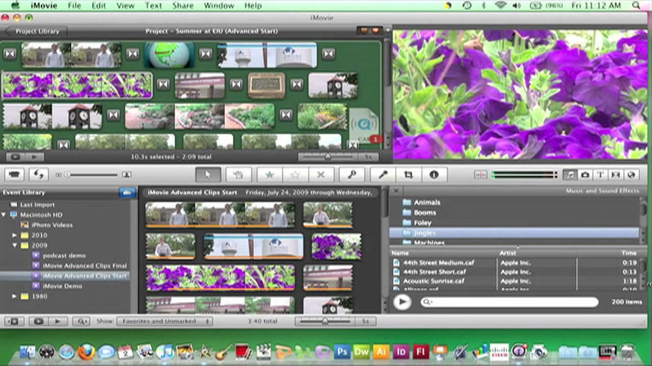 imovie 09 adding background music 28 youtube rh youtube com iMovie 09 Icon iMovie Event Library