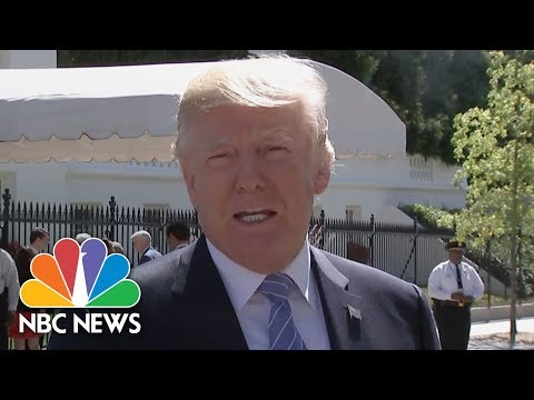 President Donald Trump 'So Happy' For Steve Scalise, Silent On Tom Price | NBC News