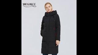 Miegofce 2021 зимняя новая женская хлопчатобумажная куртка средней длины мягкий пиджак стиль