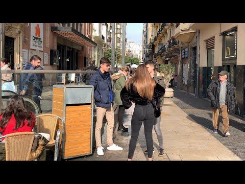 Valencia Spain 🇪🇸 Walking The Streets/ Beach 2020