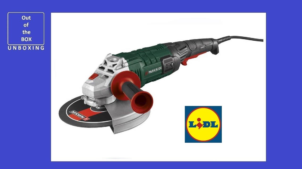 Parkside angle grinder pws 230 c3 unboxing lidl 2000w for Smerigliatrice angolare parkside