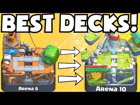 Clash Royale BEST ARENA 6 - ARENA 10 DECKS UNDEFEATED | BEST ATTACK STRATEGY TIPS F2P PLAYERS