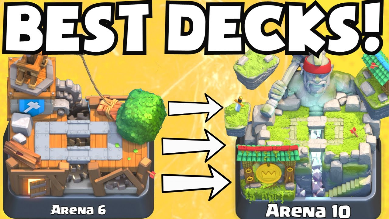 Clash Royale Best Arena 7 Arena 10 Decks Undefeated Best Attack Strategy Tips F2p Players Youtube