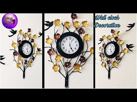 Wall clock decoration | clock decoration ideas | fashion pixies | wall hanging | wall clock craft