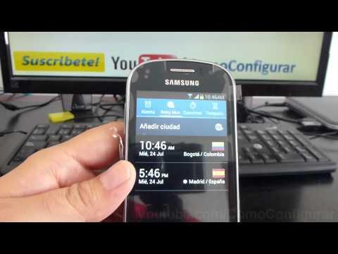 come ver que hora es en españa ahora en samsung galaxy Ace 2 fame gt s6810 español Video Full HD