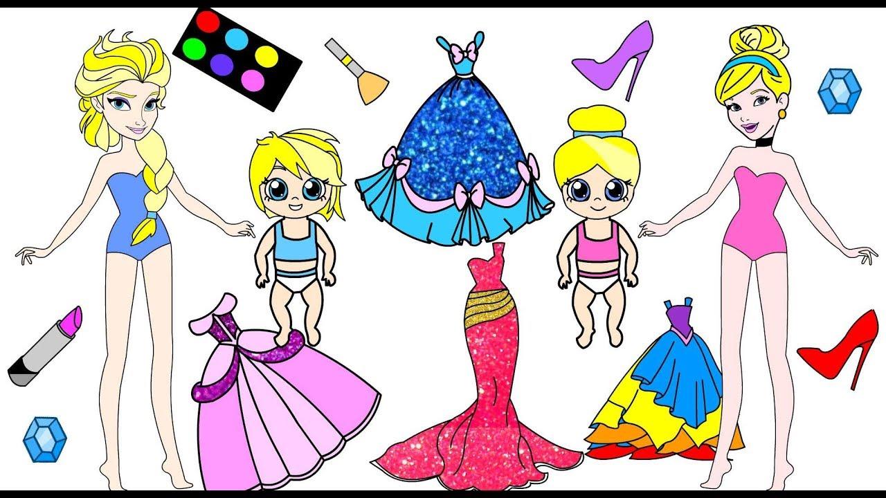Zany image for printable dolls