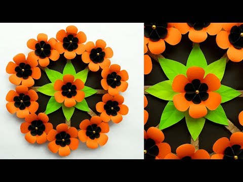 Diy Paper Flower Wall Hanging Ideas   Paper Wall Decor   Wall Decoration Ideas   Paper Craft