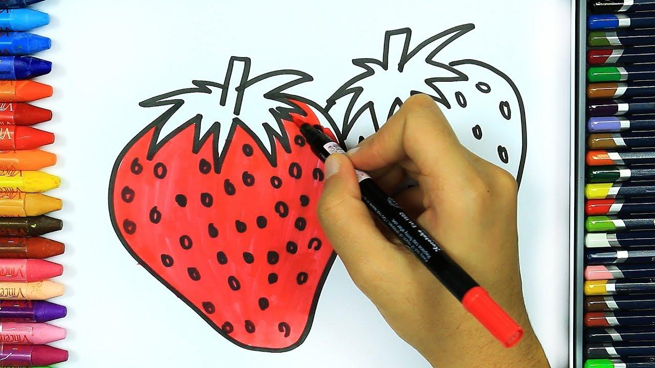 Jak Narysowac Truskawka Kolorowanki Dla Dzieci Kolorowanie Rysowanie I Kolorowanie Rysunek Youtube