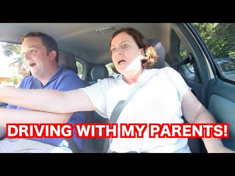 DRIVING WITH MY PARENTS! (MUM FREAKS OUT)