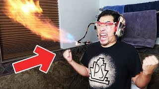 Shout Activated Mouth Flamethrower (+taser nerf dart winners announced!!)