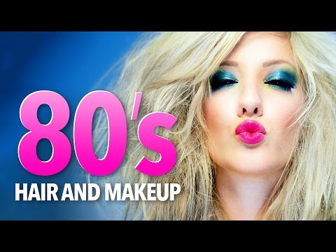 1980's hair & makeup tutorial