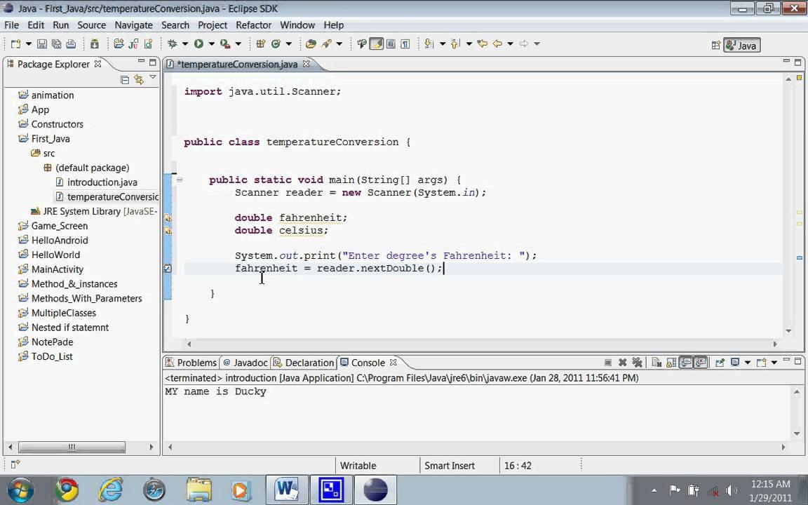 3RD Java Tutorial: Temperature Conversion - YouTube