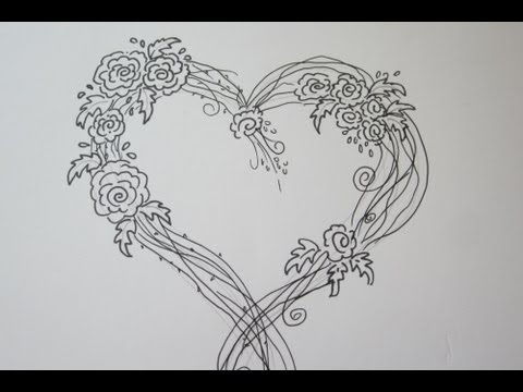 How To Draw A Easy Heart With Wings   Coloring Pages ...