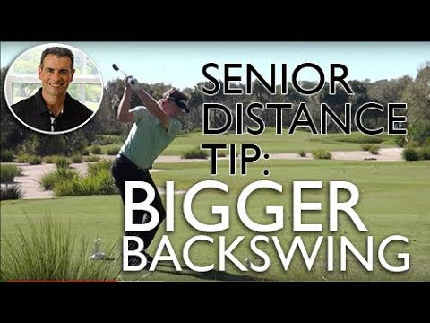 More Distance for Senior Golfers, Create a Bigger Backswing