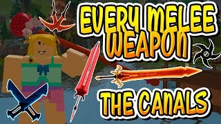 *NEW* EVERY CANAL'S MELEE WEAPON IN DUNGEON QUEST!! (Roblox)